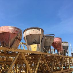 BUCKETS FOR TOWER CRANE